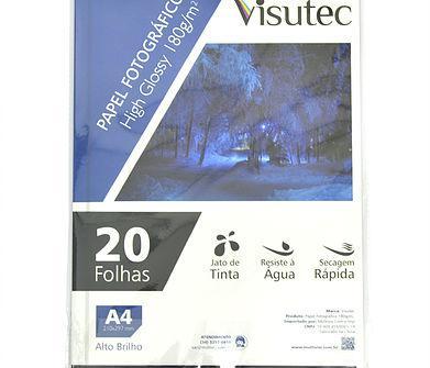 Papel fotográfico Glossy A4 180gr - Pacote com 20 folhas