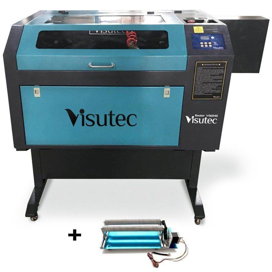 Máquina Router Laser CNC VS6040 Corte e Gravação 60x40cm 60W Com Eixo